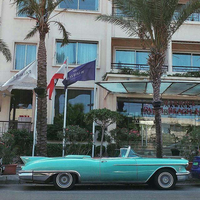 Felt like in Miami for a moment & back to the 50's with this Cadillac Eldorado ClassicCar (Ain El Mrayseh)