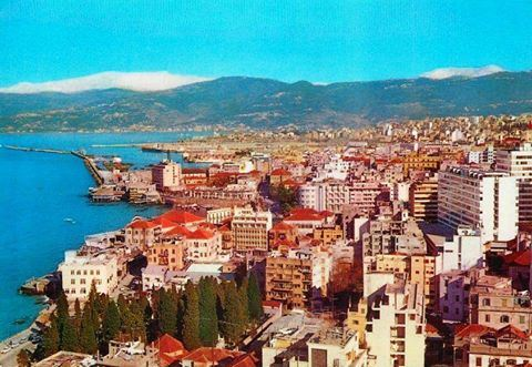 Landscape View of Beirut in 1969