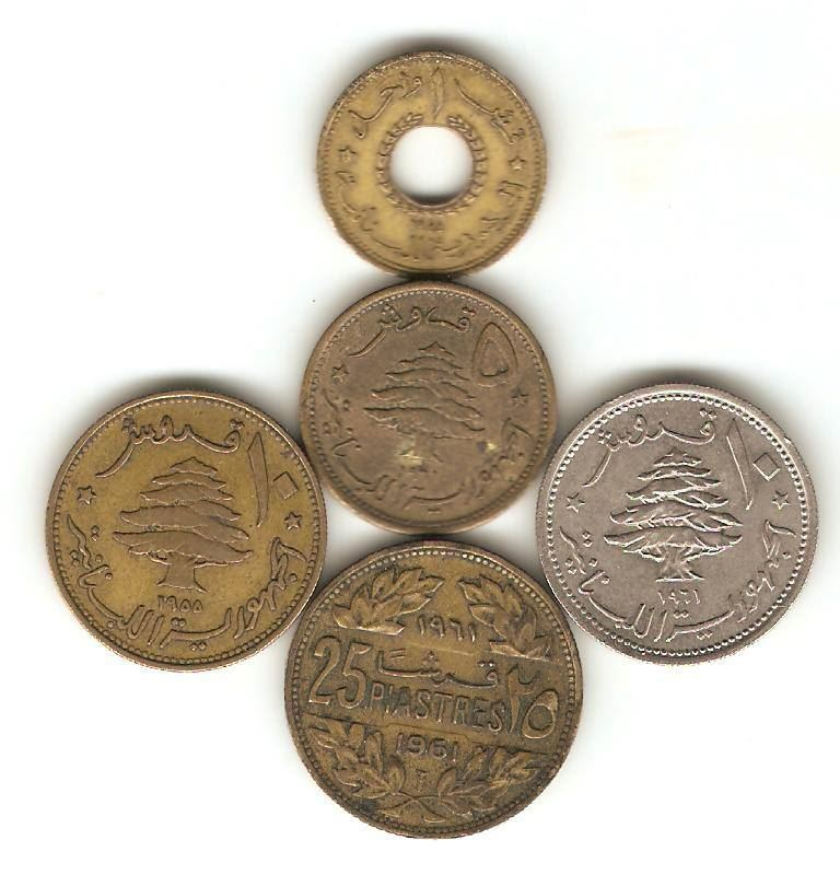Lebanon Coins Old