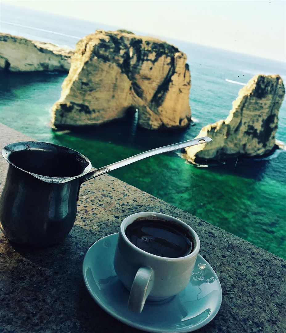 my lovely place, with my coffee (Bayrock - Raouche)