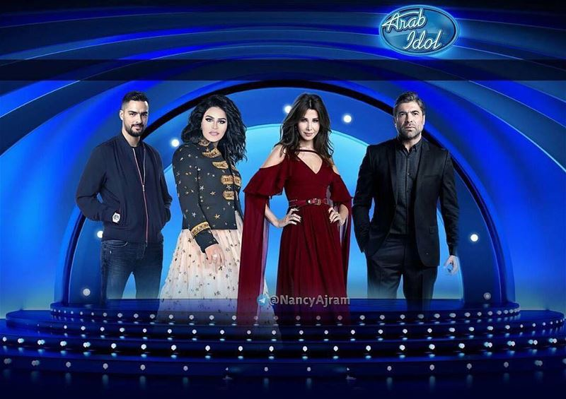 Beautiful Nancy Ajram in program Arab idol