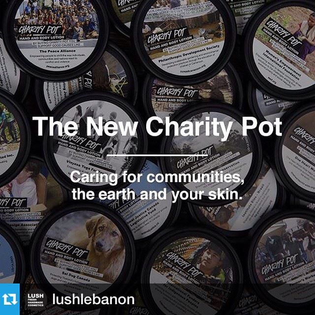 Repost from @lushlebanon with @repostapp --- Changing the world, one pot of body lotion at a time. We run for Charity, what do you run for?