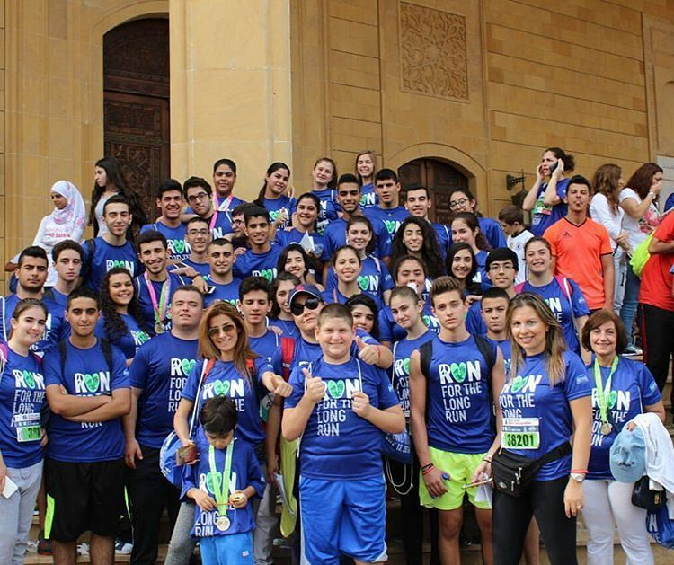"7 km fun run with friends ""Antelias high school"" (Beirut Marathon)"