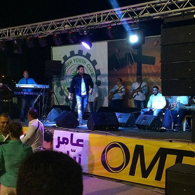 "Live at aishieh , the star @amerzayyan celebrating "" عيد الصليب "" .. omt aishieh amerzayan  (Aishiye)"