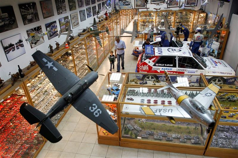 Nabil Karam's largest collection in the world of model cars and dioramas inside his museum in Zouk Mosbeh