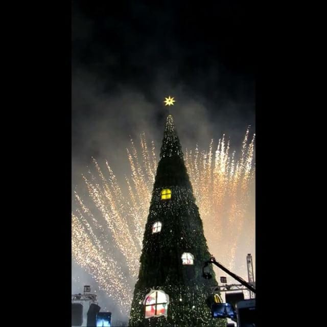 😻🎄 Byblos Christmas Tree with Fireworks