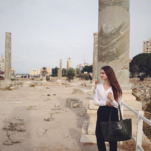 Diving into history. (Tyre, Lebanon)