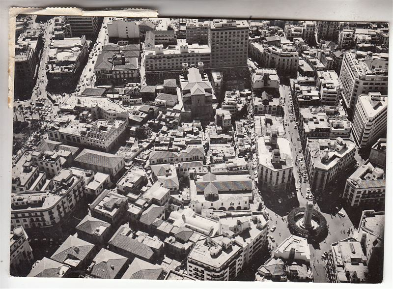 Aerial view of Beirut  1960s
