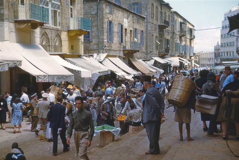 Souk in Beirut  1950s