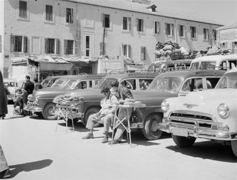 Taxis in Beirut  1950