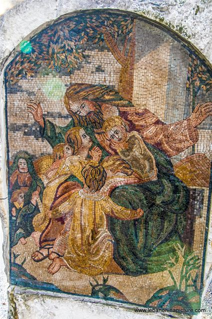 Mosaic Piece of Art Near St. Sarkis and Bakhous Church (Zaaitra, Lebanon)