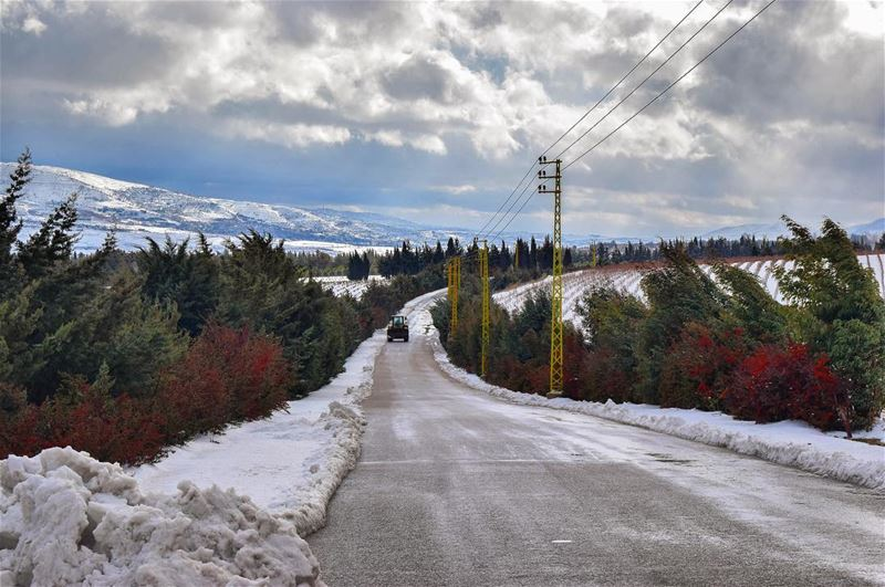 Taking the road to heaven 🚜. nature  naturelovers  mountains ... (West Bekaa)