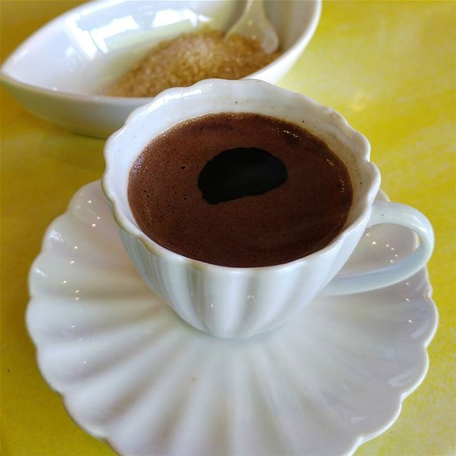 Fresh Turkish/Lebanese coffee served with a smile on pretty china. What... (Fenetre)