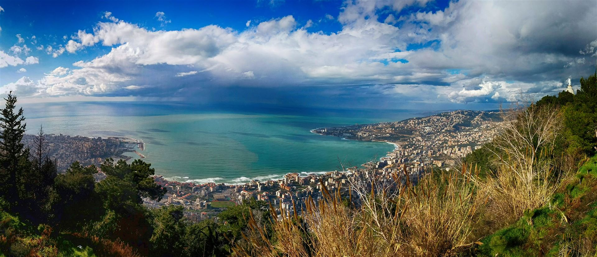 View of Jounieh Bay from Harissa