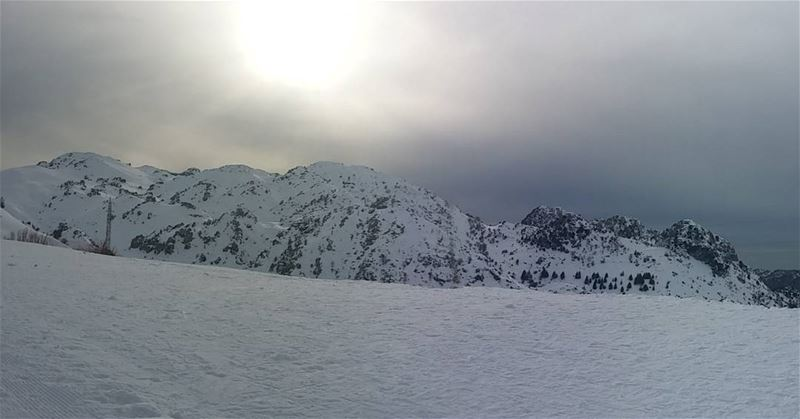 And this is heaven on earth laqlouq's mountains coated with layers of snow... (El Laqloûq, Mont-Liban, Lebanon)