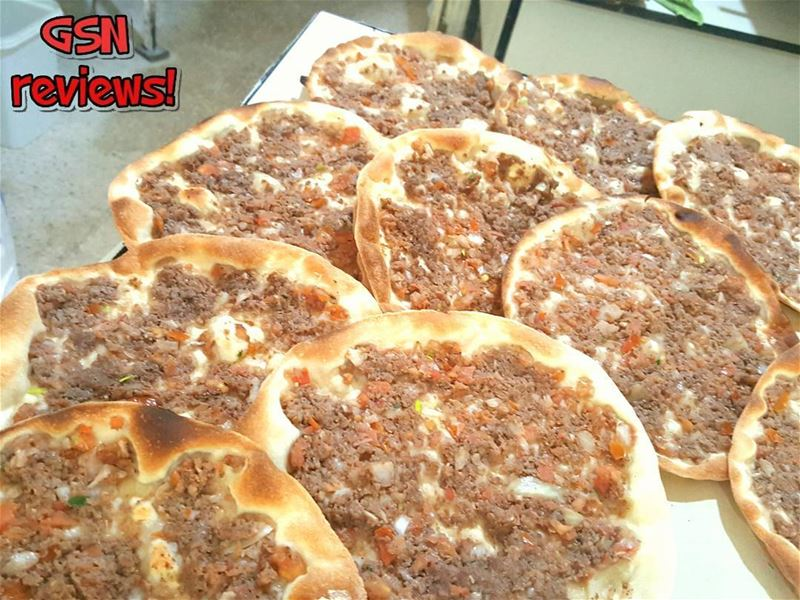 Lahm bi Ajeen or Lebanese meat pie (lahmajoun) is specific to the Levant... (Beirut, Lebanon)