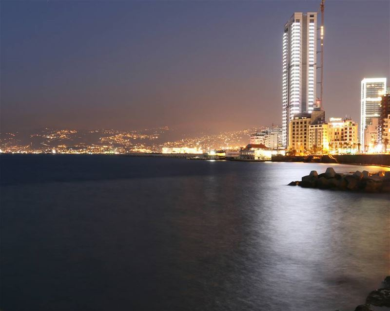 City lights  Beirut............. night  twilight  citylights  city ...