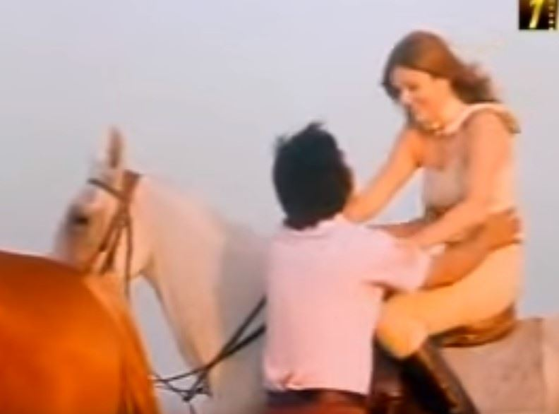 Miss Universe 1971 - Georgina Rizk from Lebanon (colored video)