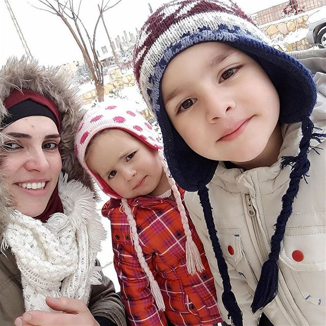 Snow❄❄❄with my kids DALIA❄OMAR snow  baalbek  lebanon  kids  myfamily ... (Baalbeck, Béqaa, Lebanon)
