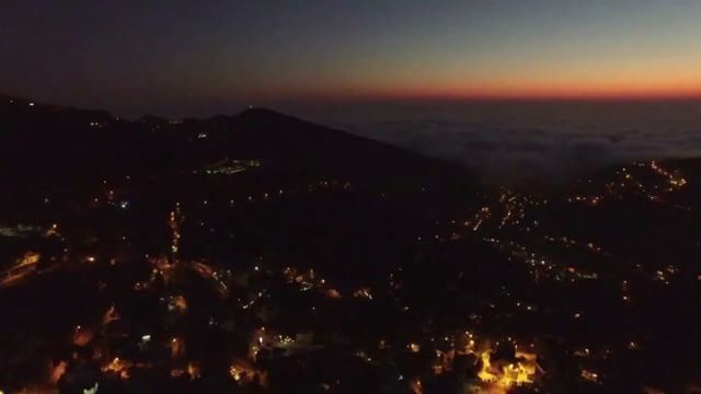360 by  night sunset and low cloud at the  horizon Lebanon ... (Aramoun Keserwan)