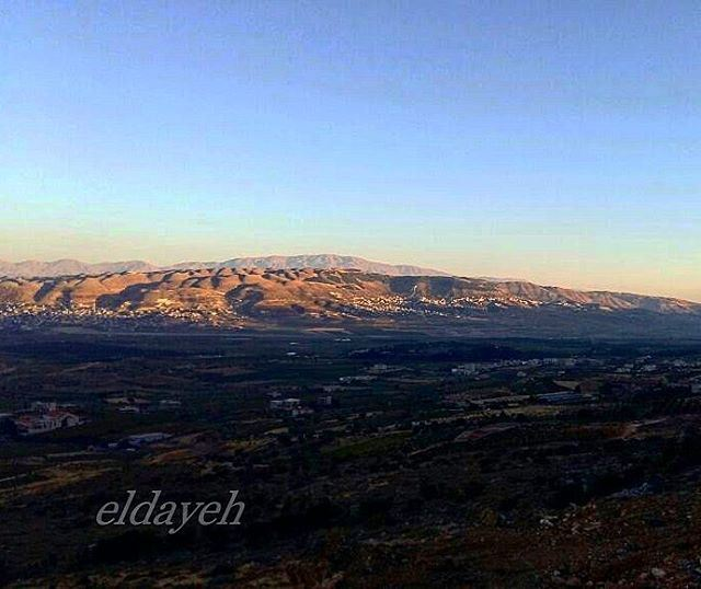 """In the beauty of nature lies the spirit of hope""  sunset  mountains ... (West Bekaa)"