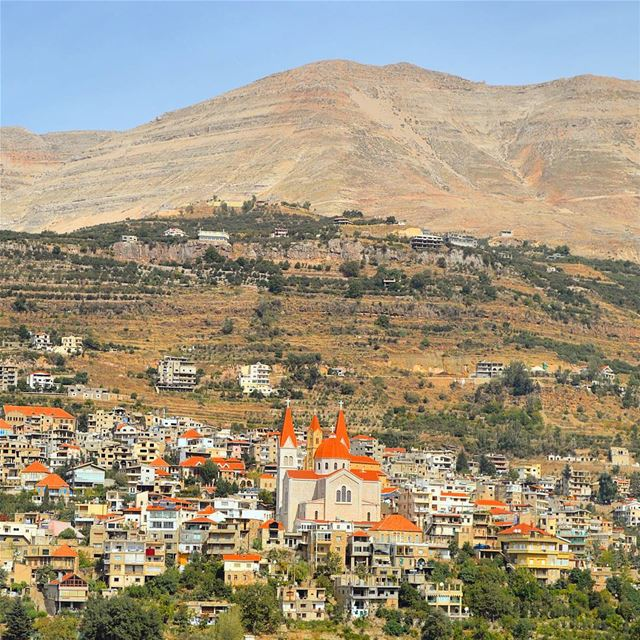 The beautiful village of lebanon  redroof of  bcharre  qadishavalley...