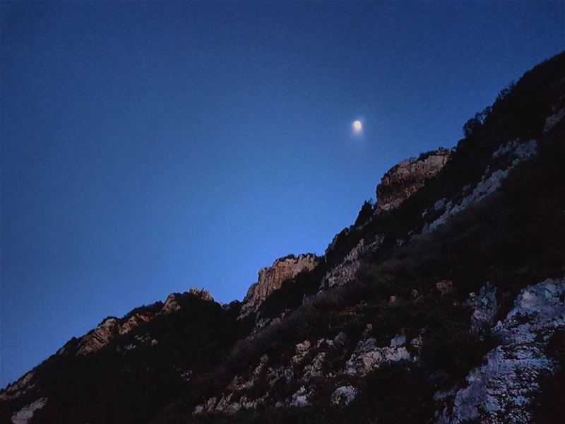 The moon shook and curled up like gentle fire.  love  moon  mountains ...