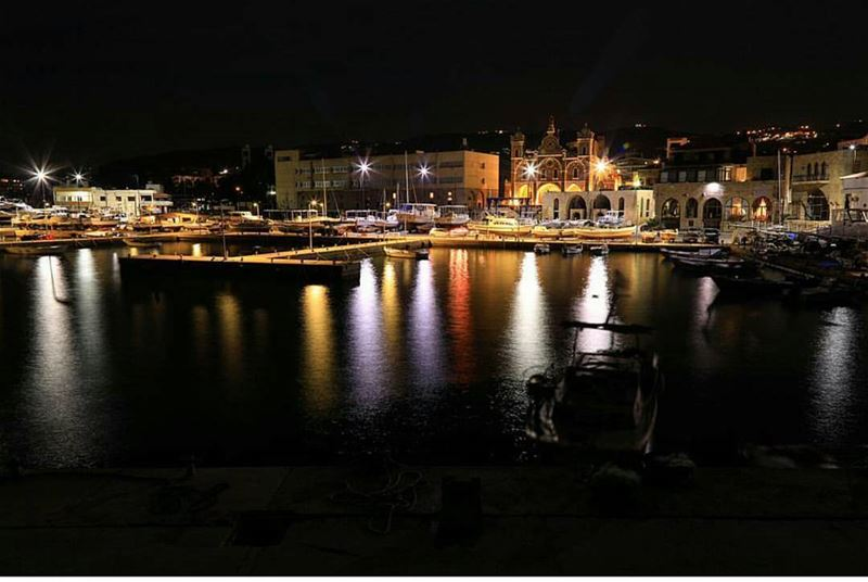 batroun  mina  marina  reflection  light  mediterranean  sea ... (Mina-batroun)