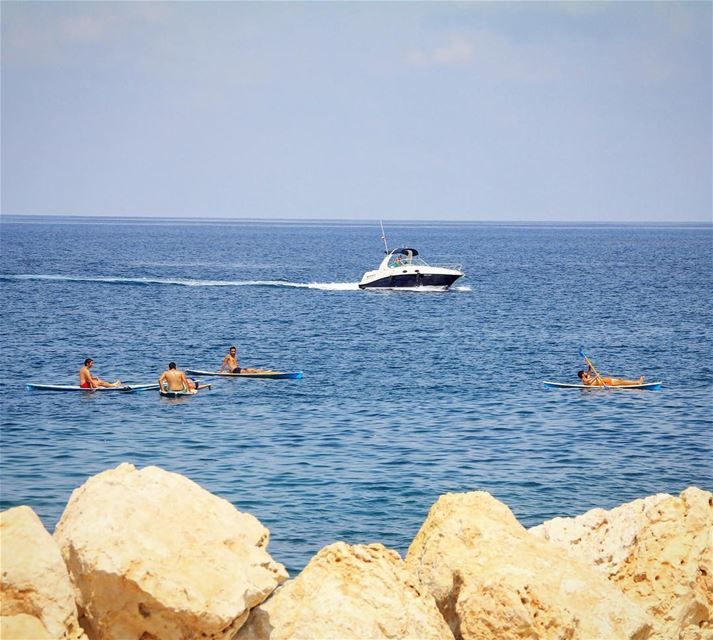 Happiness found in different forms.. summer  beach  sea  fun  activity ... (Anfeh, Lebanon)