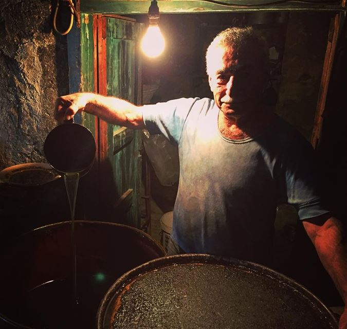 Behind the scenes of Sharkass soap. (The olive oil which goes into the... (Tripoli, Lebanon)