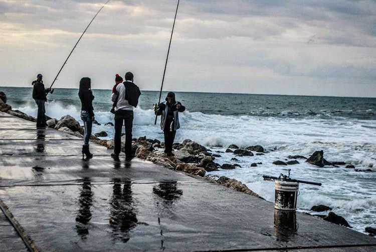 Connecting worlds. fishing  fisherman  family  fish  water  marina  jbeil... (Byblos - Jbeil)