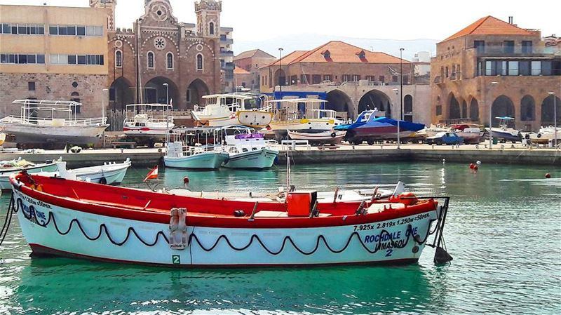 Good morning from  Batroun 's colorful port Lebanon  Lebanese ... (Port Batroun)