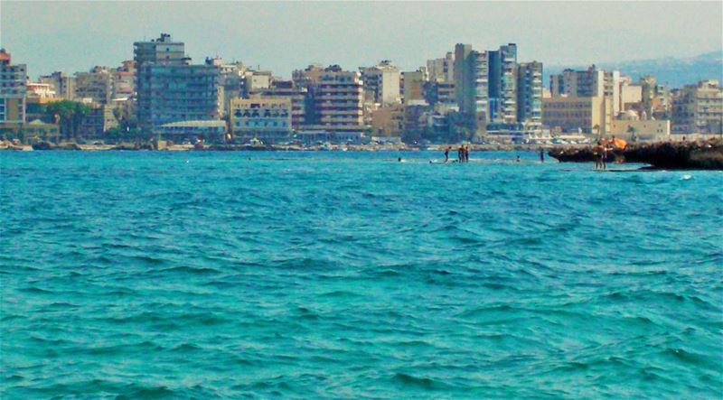El Mina as seen from Bellan island 🌊 Beautiful  refreshing  day  People... (El-Mina, Tripoli)