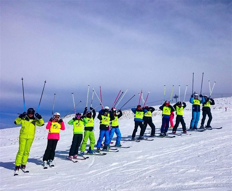 Sunday funday groupez  ski  skichool  mzaar  warde  lebanon ... (Mzaar Skiresort)