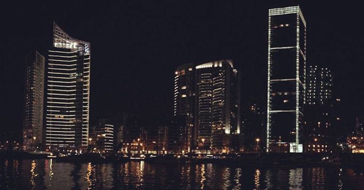 - Beirut by night -  livelovebeirut  livelovelebanon  lebanon  beirut ... (Zaitunay Bay)