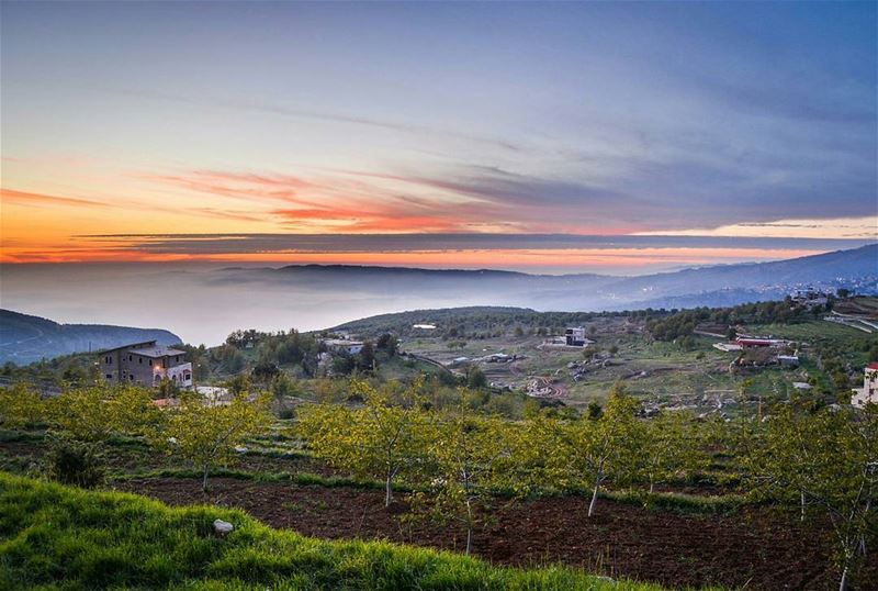 .Beautiful sunset colors | Tarchich, Lebanon. Good night dear friends and... (Tarchich)