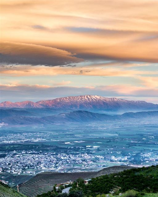 .Mount Hermon and Bekaa Valley At Sunset. ..📍Location: Bekaa,LB⌚Date:... (Bekaa valley)