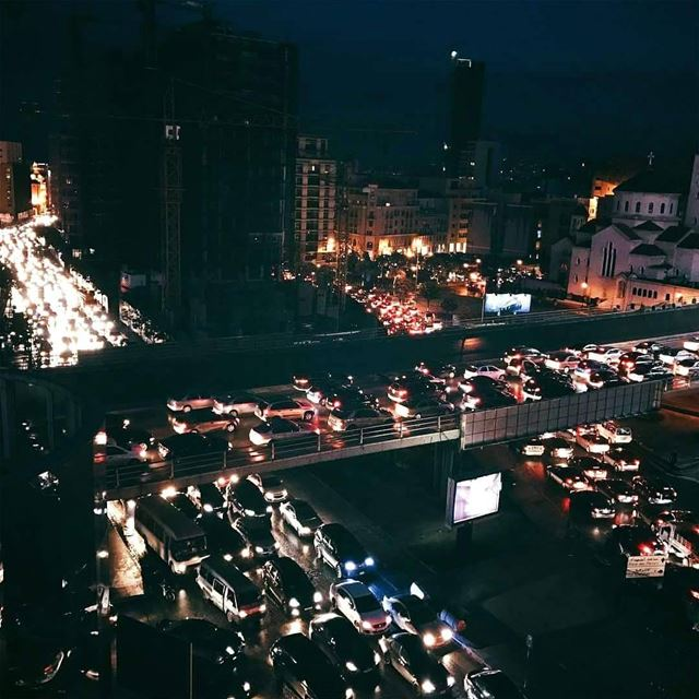 Expect this much traffic if you're leaving work now.Photo by @nourrifai...