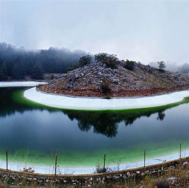 "Part 2/3 : ""Heart"" shaped Pond shoufbiospherereserve  baroukcedarforest ... (Barouk Cedar Forest)"