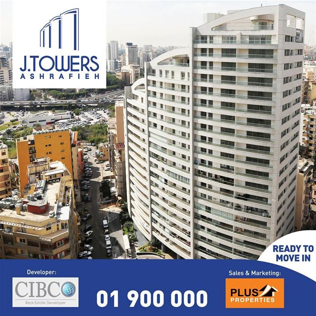 Live in J TOWERS Ashrafieh starting $2,550*/sqm!A luxurious urban project...