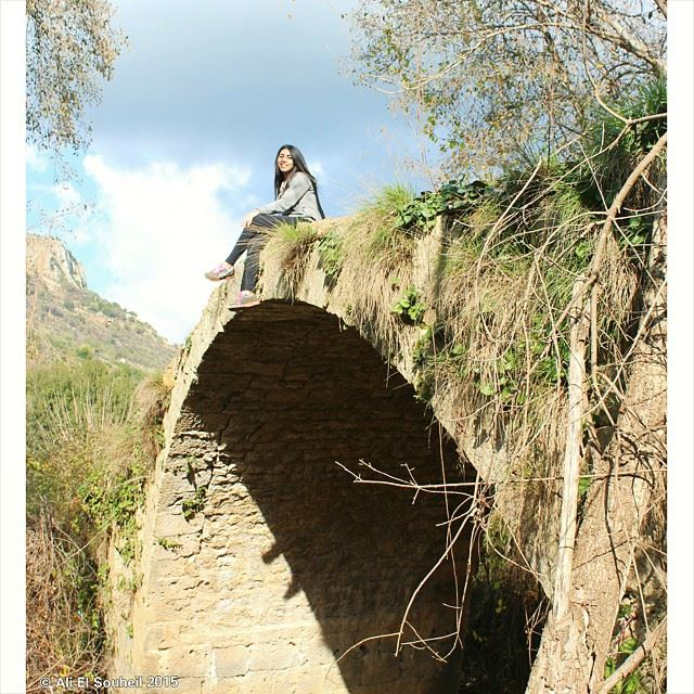 @nancydarwish19  lovely  girl  lebanese  friend  old  bridge  arch  nature...