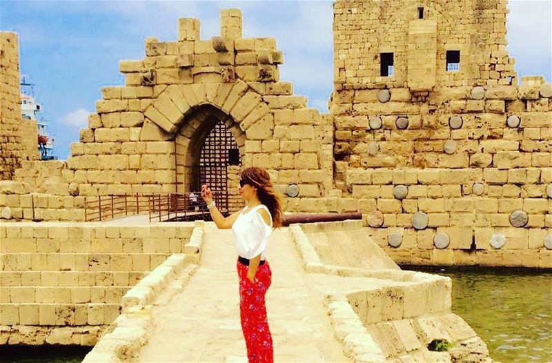 While in Sayda Castle  Sayda  shooting  summer2016☀️  lebanon🇱🇧 ... (قلعة صيدا)