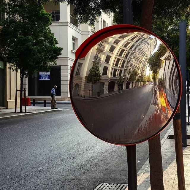 Ciao Beirut! It's friday 😉 beirut  city  urban  empty  street  mirror ... (Beirut Down Town)