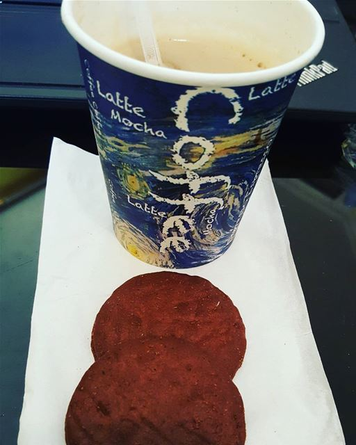 breakfast at  work  biscuit  nescaffe  saturday not in  working  mood ...
