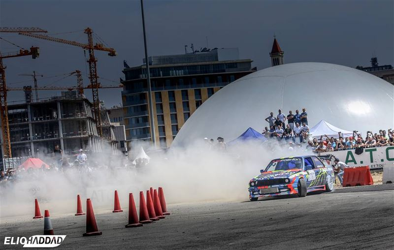 🔴From the Lebanese Drift Championship Round 1at Beirut Water Front. @Beiru