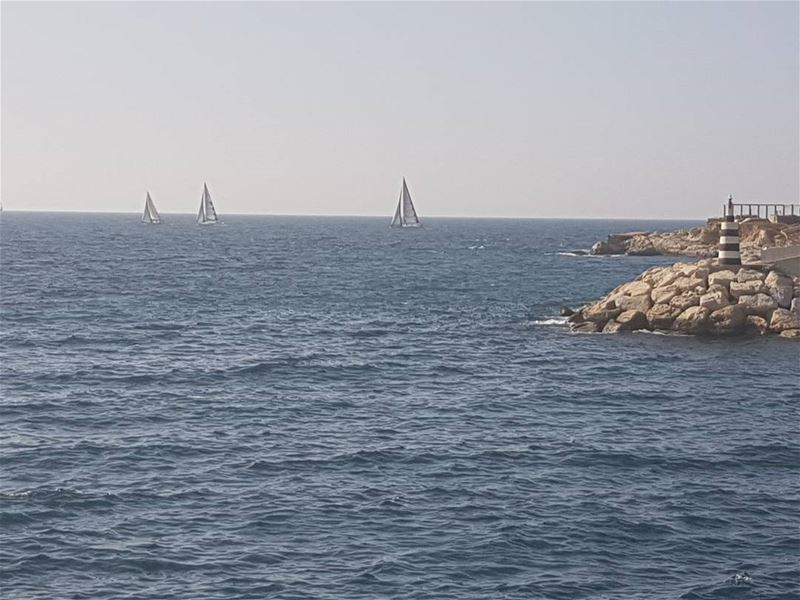 ⛵⛵⛵ sea  sealover  sailing  sail  water  mediterranean  bluesky  blue ...