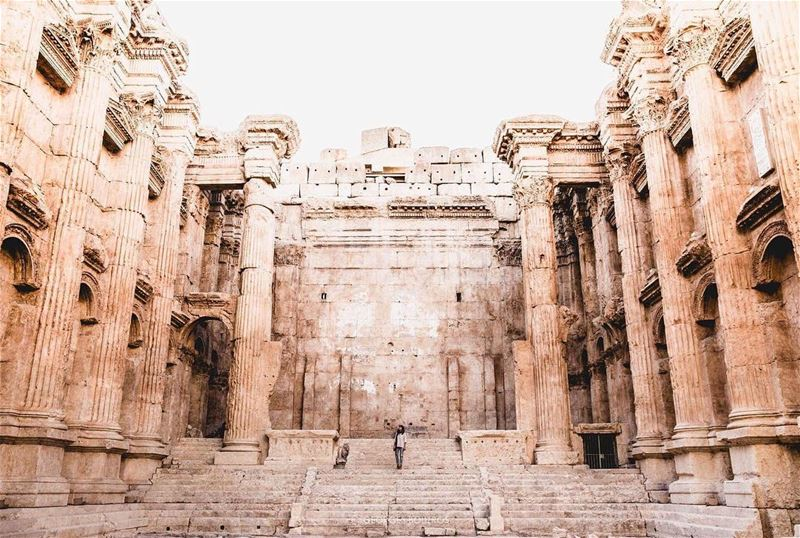 Walls aren't there to block us, but to challenge us to fight better! ✨... (Baalbek, Lebanon)