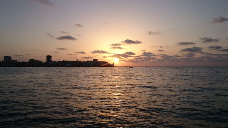 sun set.... more than peaceful view. tyre city. first stage of night