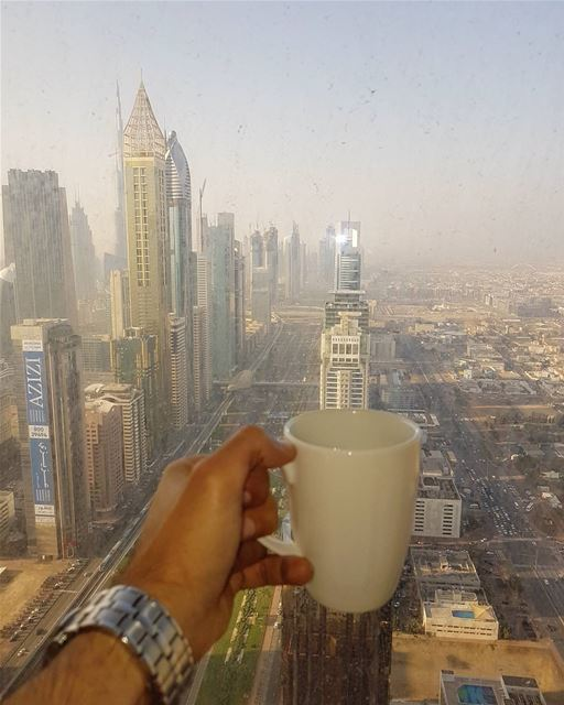 Good morning dubai from @millenniumplazahoteldubai ☕☕☕ صباح_الخير ... (Millennium Plaza Hotel Dubai)
