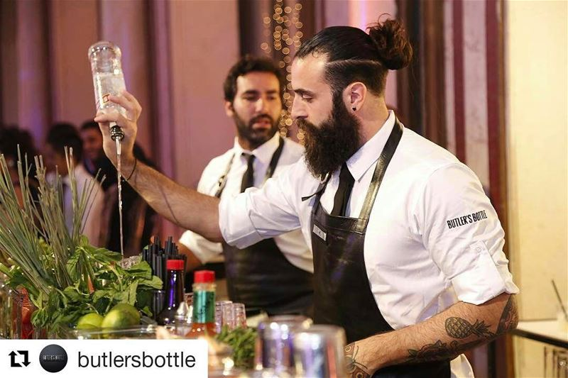 When we cover an event for the Butler's  Repost @butlersbottle with @repos